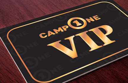 CampOne VIP kort design